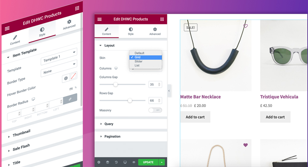WooCommerce Products Layouts for Elementor - 1